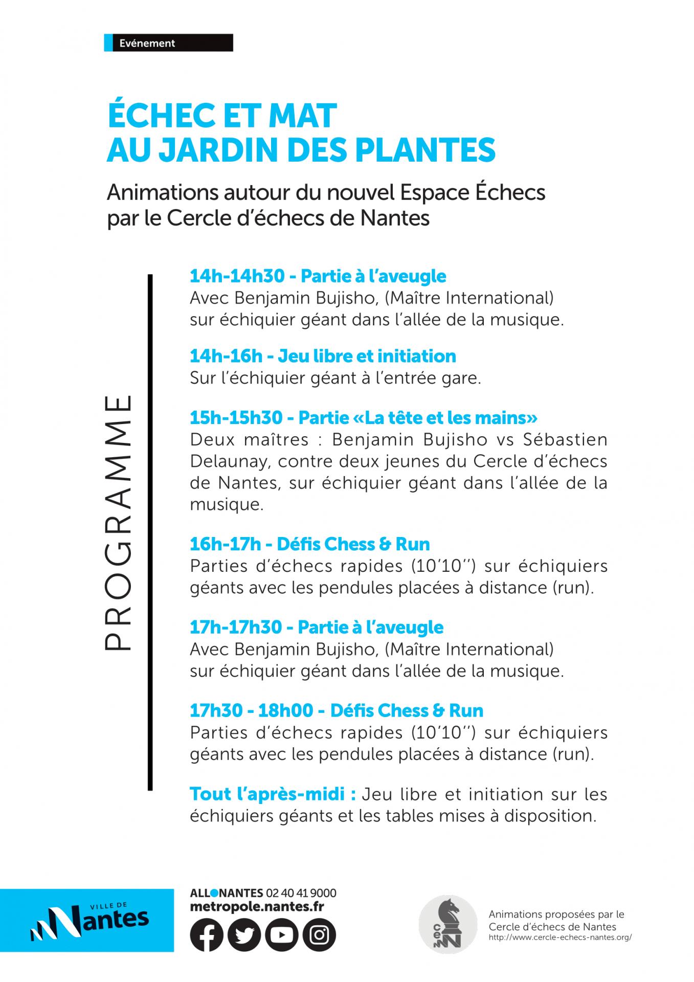Affiche programme echec et mat au jardin des plantes 5 juin 2021 2