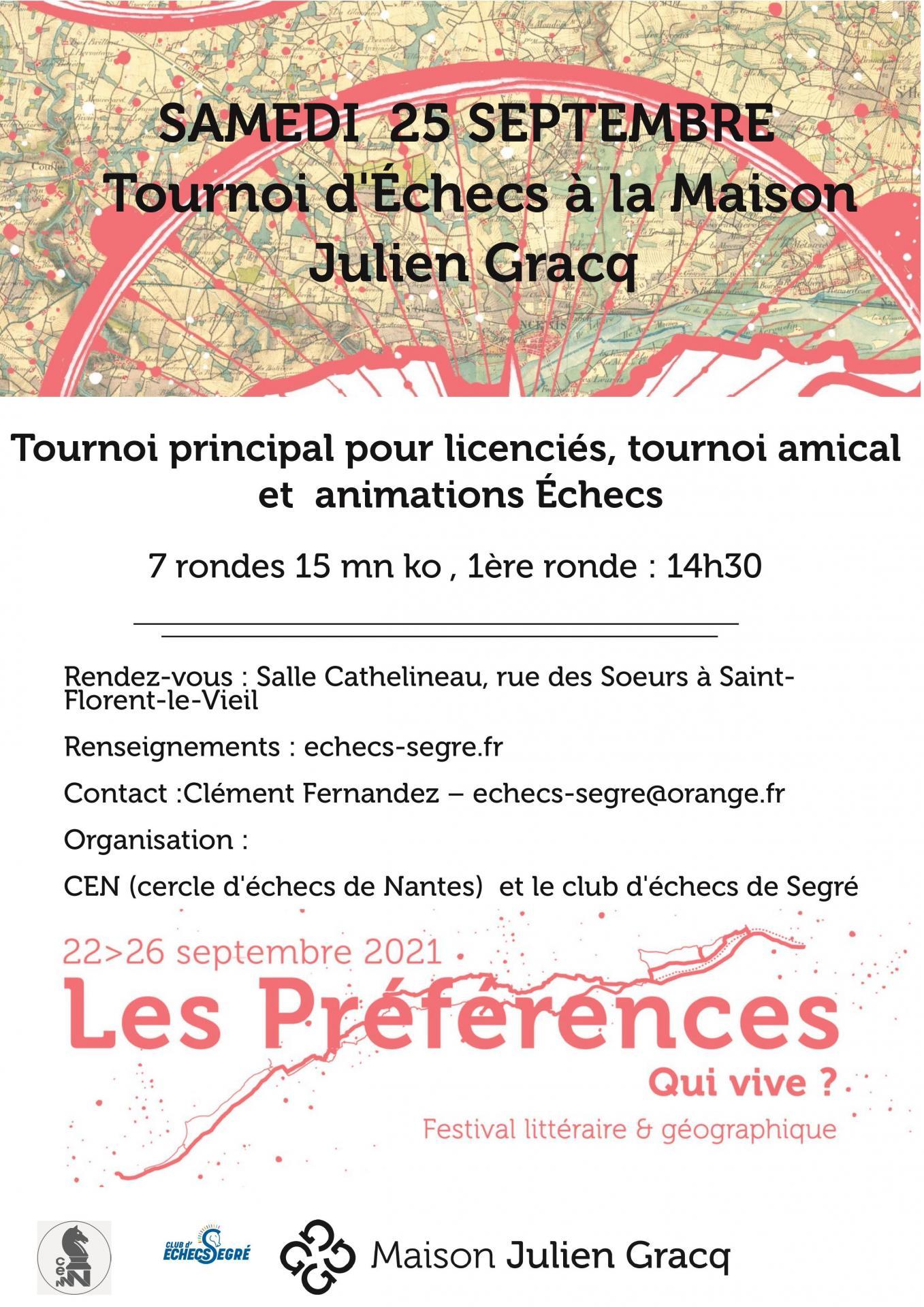 Affiche tournoi de la maison julien gracq